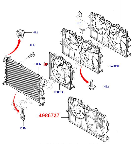 Система охлаждения Transit Connect для Ford Transit