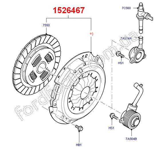 12 Ford Transit 2 2tdci 280s Swb: 1526467. комплект сцепления 2.2TDCI (140PS) (1526467) для