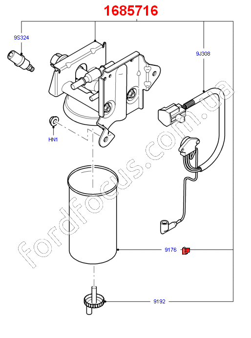 1685716  housing fuel filter 2 2-2 4-3 2  from sensor   u0434 u043b u044f ford transit 2006-2012