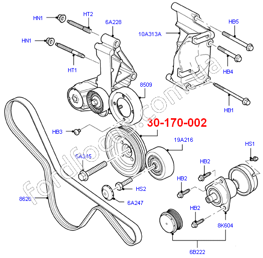 30-170-002 pulley crankshaft 1.8 (75-90PS) BSG-GIRMAN 1151392 (1151392)