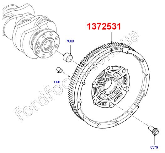 12 Ford Transit 2 2tdci 260s Swb: 1372531. маховик 2.2TDCI (130PS) демфер (1372531) для Ford