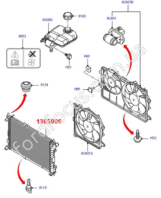 52 Ford Transit Connect 1 8td Swb: 30-520-005. радиатор 1.8TD (75PS)(+AC) 702x418x26 (1365996