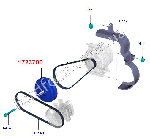 12 Ford Transit 2 2tdci 260s Swb: 1723700. шкив коленвала 2.2TDCI 85-110PS (демферный