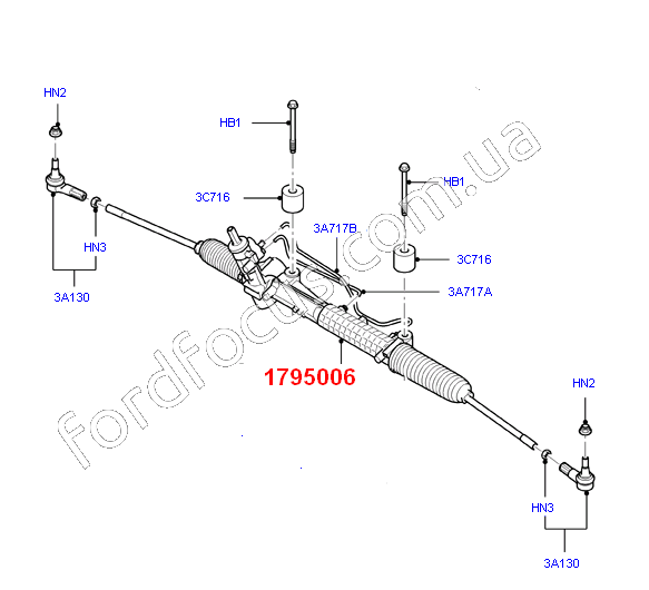 1795006 rail steering from PG (LWB) (1795006)