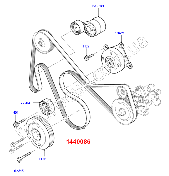 12 Ford Transit 2 2tdci 280s Swb: 7PK 2683. Belt Generator 2.4-3.2TDCI (-CDC) GATES 1440086