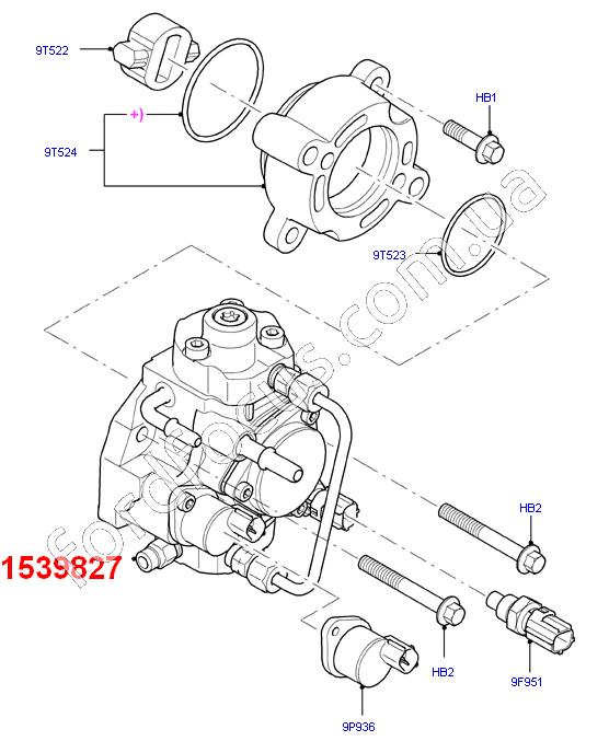12 Ford Transit 2 2tdci 260s Swb: 1539827. насос ТНВД 2.2TDCI (1539827) для Ford Transit